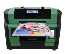A1 size direct printing technology eight colors high resolution small uv flatbed digital pvc card printer