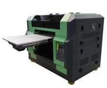 High Speed Large Size 4feet LED UV Flatbed Glass Printer in Germany