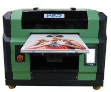 High Speed A2 Two Head Plastic UV Flatbed Printer in Rome