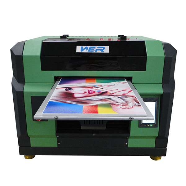 Best quality a3 WER E2000UV digital flatbed printing machine ,desktop uv printer