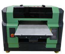 New hot selling print white and color ink at the same time a2 flatbed uv plotter
