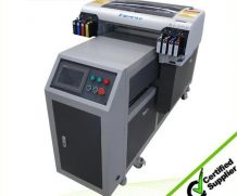 Hot sale! double DX5 head uv led printer printing white ink and color ink simultaneously uv printing machine A2