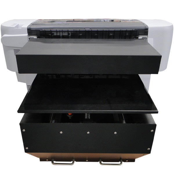 A2 size WER-EH4880UV with ball screw drive system air sucking platform ,uv flatbed printer price