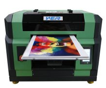 WER New model A1 size Multifunction flatbed uv label printing machines