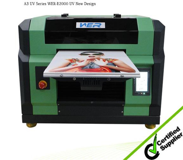 Most popular design A3 WER E2000UV ,8 color with white and varnish, a3 size printer