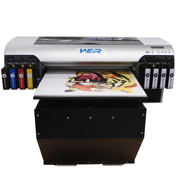 Hot sale flatbed printer a2 WER-D4880UV a2 size printer,a2 digital printer