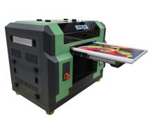 Ce Approved A2 Desktop Dual Head UV Flatbed Printer in Germany