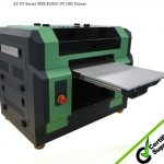 A2 desktop uv led flatbed printer multifunctional for printing pen, glass, metal, pvc card, t-shirt, phone cases 5760 * 2880 dpi