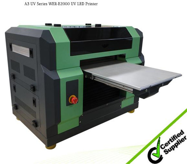 Hot selling A3 plus WER-E2000UV substrate printing with 3D embossed effect Format Digital UV Flatbed Printer