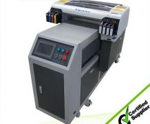 CE Approved WER-EH4880UV Inkjet LED UV Flatbed Printer in Lima