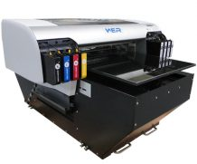 2016 Hot selling WER LCD touching screen and air suction flatbed,UV flatbed printer