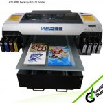 Hot selling A3 WER E2000UV flatbed printer CE approved, rigid media printer A3
