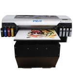 Wer-China best-selling digital printer with ball screw drive air sucking table LCD screen a2 size uv led flatbed digital printer