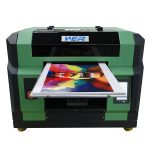 Popular A3 WER-E2000UV for any hard materials with eight colors uv flatbed printer