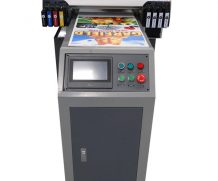 15 cm print height with ball screw LCD touch panel 8 color a1 size uv printer