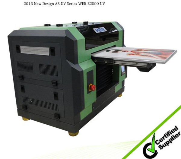 Hot selling A3 329 mm * 600 mm WER E2000UV print size 15 cm print height WER ,a3 printing machine