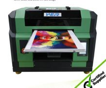 New Design A2 Size Ball Screw and Air Suction Platform UV Flated Printer in Korea
