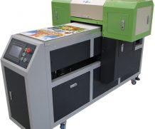 High Speed Large Size 4feet LED UV Flatbed Glass Printer in Czech Republic