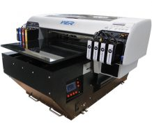 High Speed A2 Two Head Plastic UV Flatbed Printer in Korea