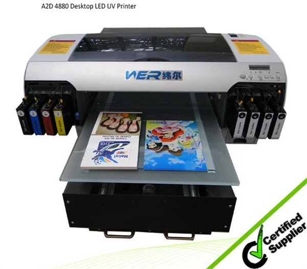 "Hot selling 13"" x 18.8"" A3 plus Size WER-E2000UV DESKTOP uv flatbed printer"