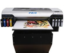 Cheap A3 WER-2000UV 8 ink cartridges and high adhesive small uv led printer