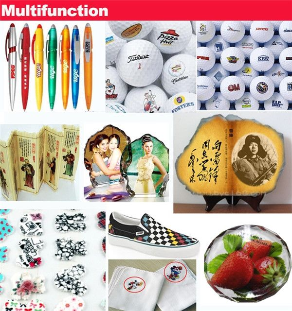 Perfect design A2 WER D4880UV multi-functional printing capability cd, phone case, pen, key chain etc ,a2 size digital printer Printing Sample