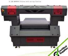 Wer 90*60cm LED UV Flatbed Printer with 280mm Printing Height in Mexico