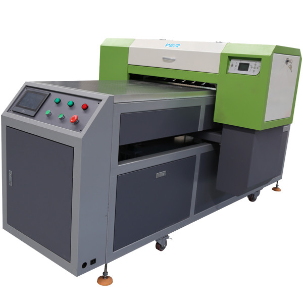 A2 size 420 * 1200 mm WER printing white and color same time double speed UV LED Flatbed Inkjet Printer