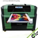 Top selling A2 size WER-EH4880UV flatbed printer with white ink, vacuum table