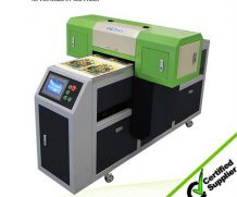 CE Approved WER-EH4880UV Inkjet LED UV Flatbed Printer in Mexico