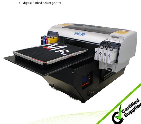 2016 top selling printer A2 WER-D4880T direct to cotton T-shirt printer in New Zealand