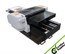Best New technology Direct to Garment digital flatbed t-shirt printer with rocih printhead in France