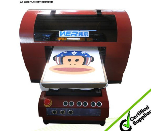 High quality A3 Size Ricoh GH2220 3 Printheads T-Shirt printer in New York