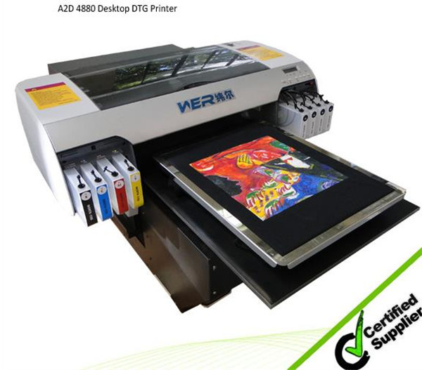 Hot selling 1 year warranty A3 size WER-E2000T t shirt printer machine with CE certification in Mauritius