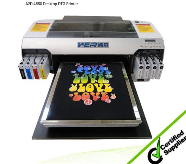 Best selling A2 size with white ink WER-D4880T t-shirt printing machines for sale in Chicago