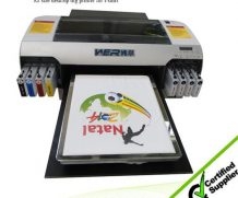 Best Top selling 8 colors cmyk+wwww A3 size WER-E2000T DTG printer for t shirt in Thailand