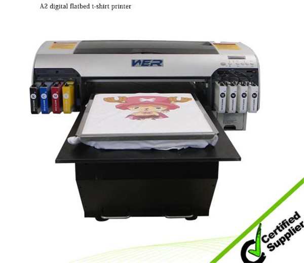 Cheap A3 WER E2000T t-shirt printer competitive price, t shirt printing machine in Myanmar