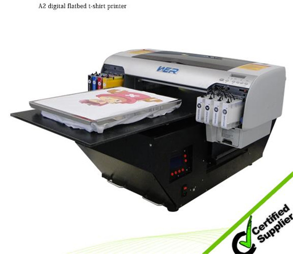 Popular a3 329*600mm WER-E2000T, cheap t-shirt printer with 1 DX5 printhead, A3 DTG printer in Cameroon