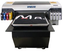 Best New Fashion design A2 size with DX5 printhead WER-D4880T Digital flatbed T Shirt Printer in London
