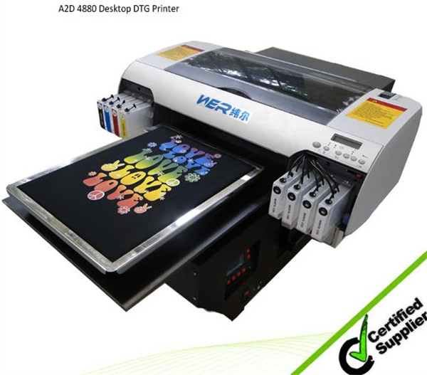 High resolution and strong adhesive a2 size WER-D4880T t-shirt printing machine prices in Peru