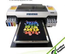 Best New hot selling A2 size WER-D4880T digital t-shirt flatbed printer in USA