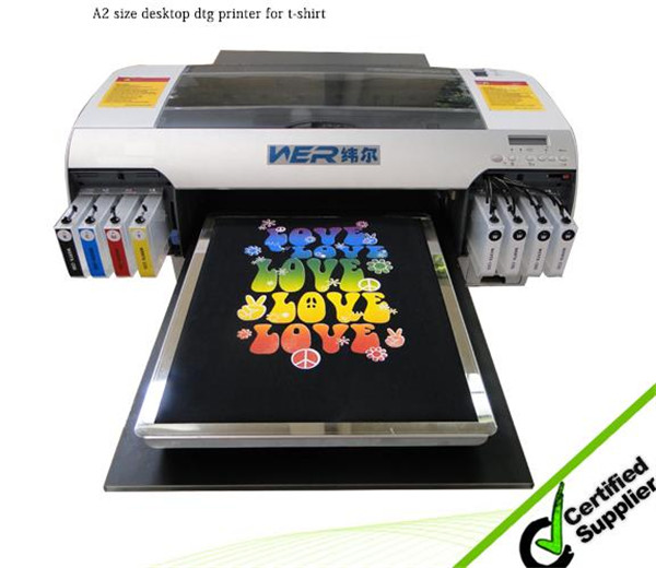 2016 Hot selling WER-D4880T A2 digital flatbed t-shirt printer in Indonesia
