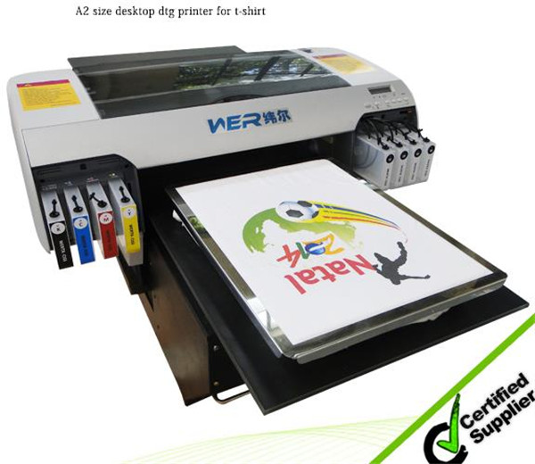 2016 top selling printer A2 WER-D4880T direct to cotton T-shirt printer in Zambia