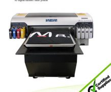 Best Automatic Multicolor Digital Flatbed T Shirt Printing Machine Haiwn-T600 Printer