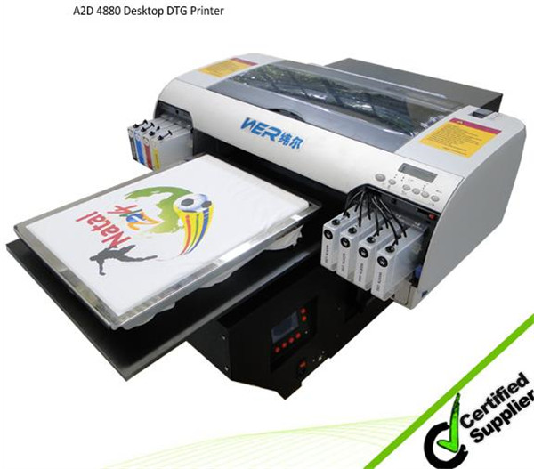 2016 top selling printer A2 WER-D4880T direct to cotton T-shirt printer in Durban
