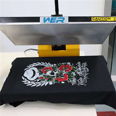 A2 Size Desktop DTG T-ko'ylak stol printer Chop Sample